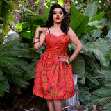 Tropical Fire Jinger Sweetheart Dress