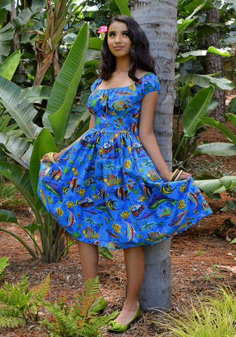 """Final Sale"" Hawaiian Holiday Deluxe Beverly Gathered Skirt"