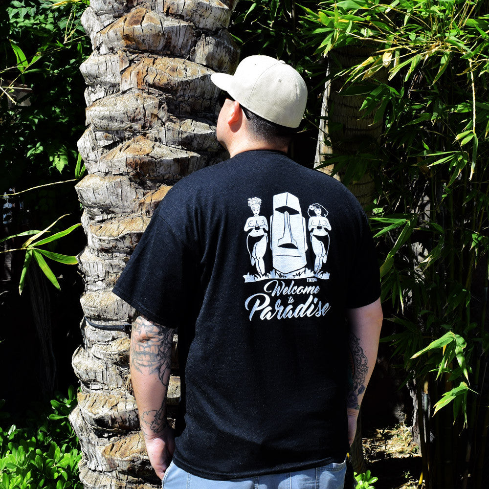 "A Classic Paradise ""Welcome to Paradise"" designed by TIKISWAG T-Shirt, Black"