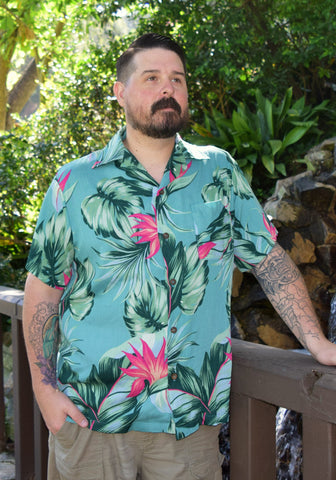 Surfer's Cove Paradise Button-Up Shirt