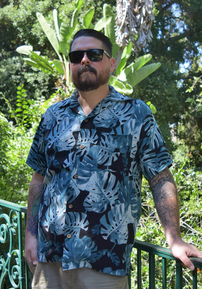 Pre-Order Monstera Leaves Paradise Button-Up Shirt