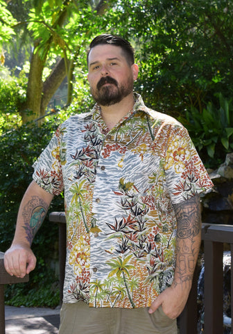 Hibiscus Happy Hour Paradise Button-Up Shirt