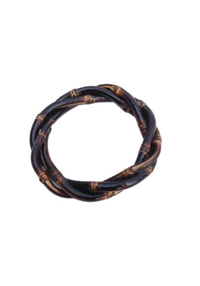 Twisted Bamboo Bracelet - Burnt