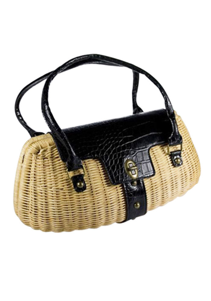 Lola Tiki Cocktail Handbag, in Black