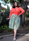 Calla Lilies in Bloom Tiki Beverly Gathered Skirt
