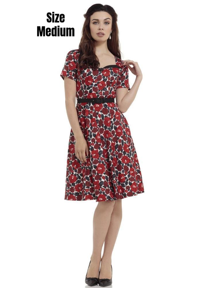 """Final Sale"" Poppy Holiday Swing Dress"