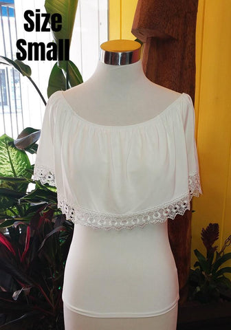 """Final Sale"" Summer Lace Trim Flounce Top in Yellow"
