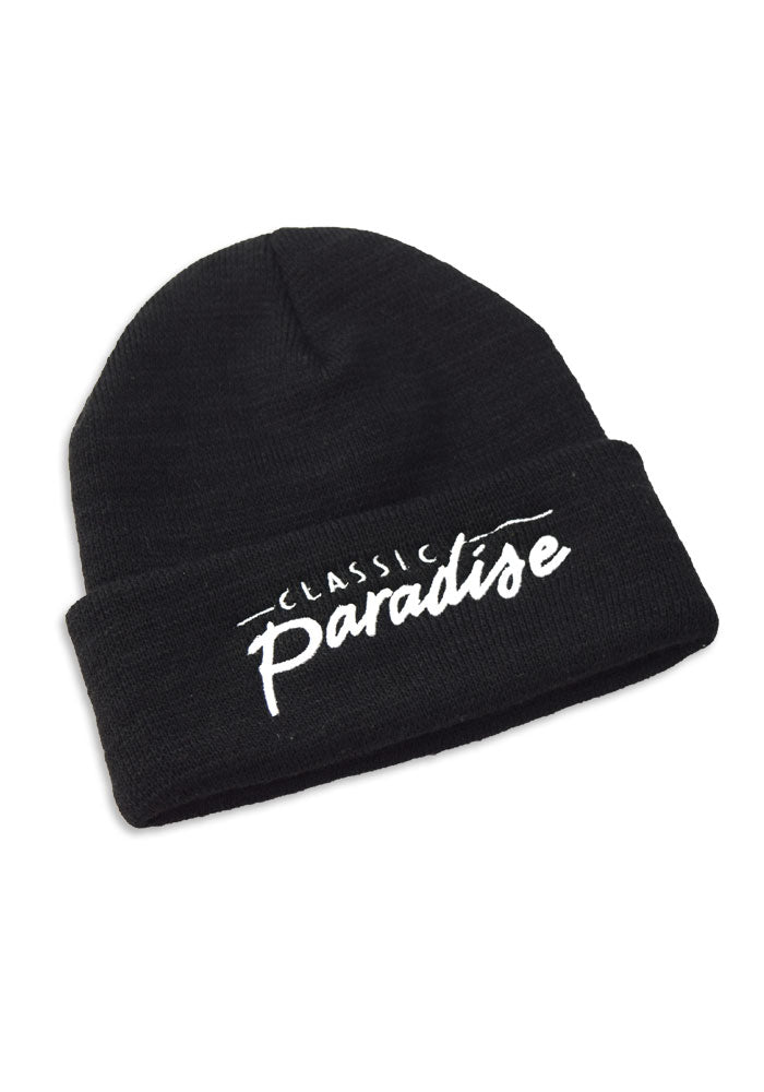 A Classic Paradise Cold Weather Beanie in Black