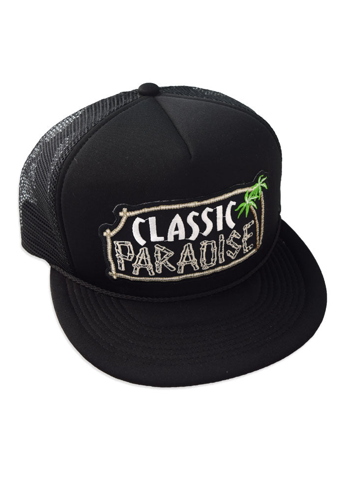 A Classic Paradise Snapback Baseball Hat in Black with Original ACP Patch