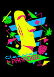 Neon Moai Classic Paradise designed by TIKISWAG T-Shirt, Black
