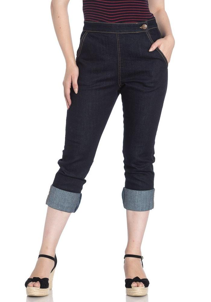 Charlie Denim Capri Pants