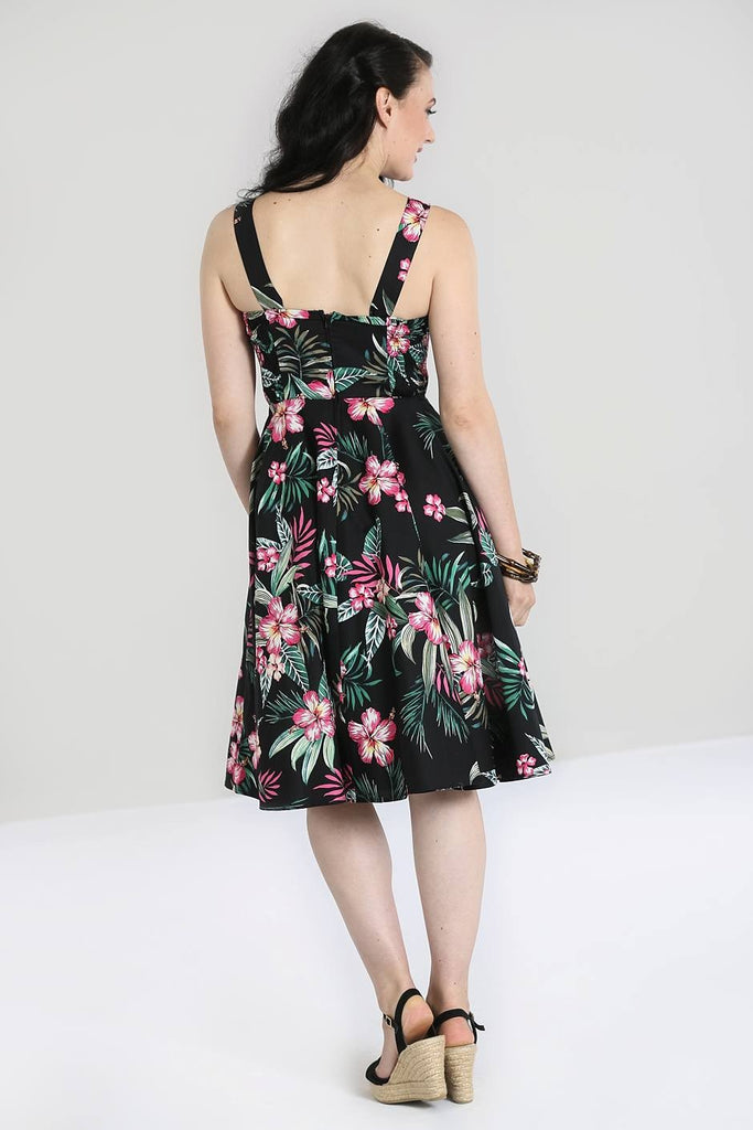Kalani Tropical Floral Print Dress