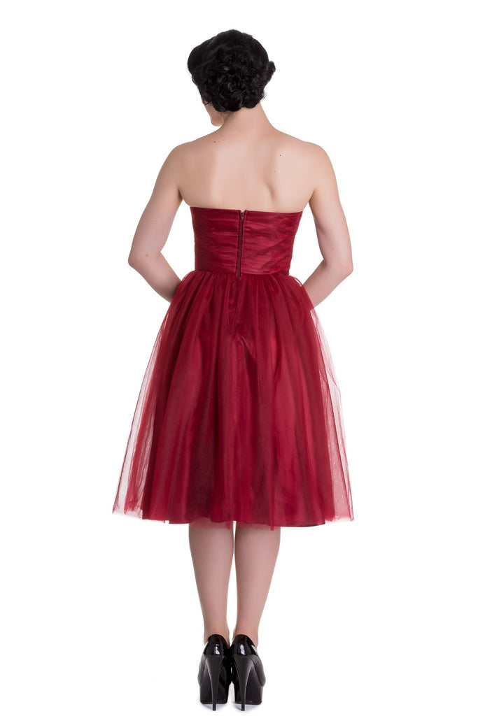 """Final Sale"" Tamara 1950s Holiday Dress in Red"