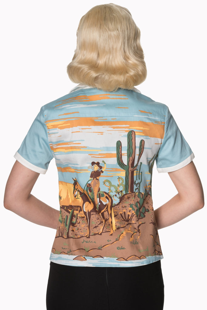 """Final Sale"" Magical Day Western Blouse"