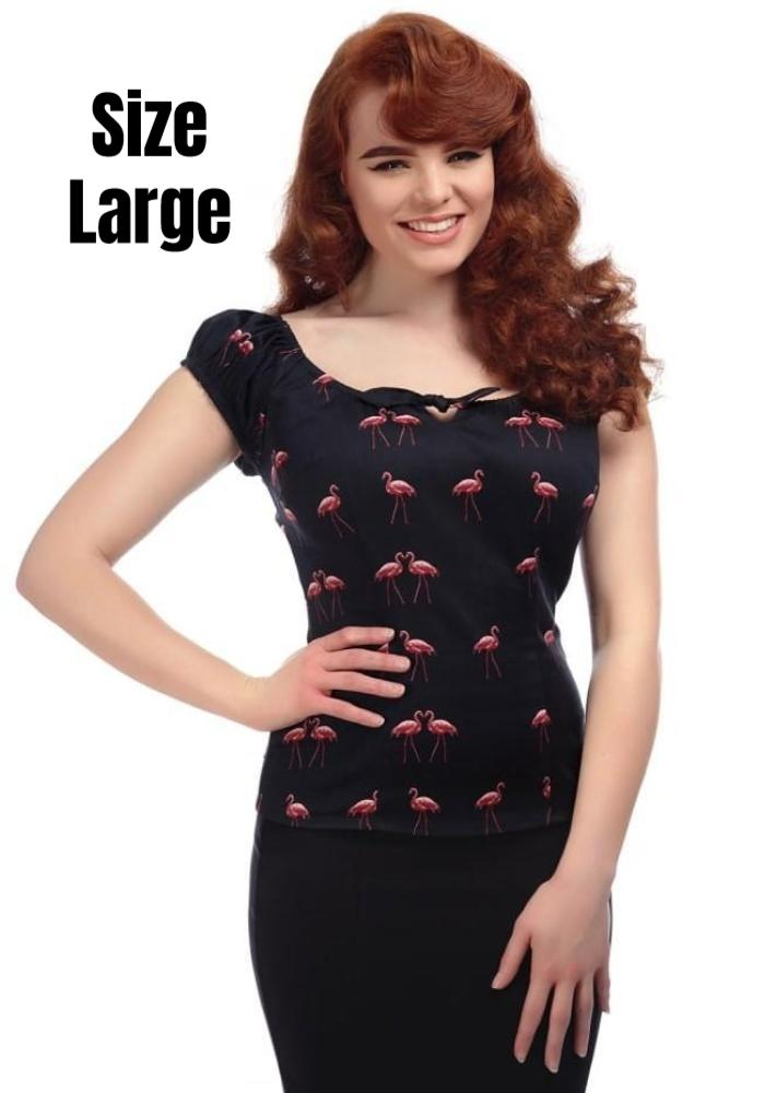 Lorena Winter Flamingo Print Top