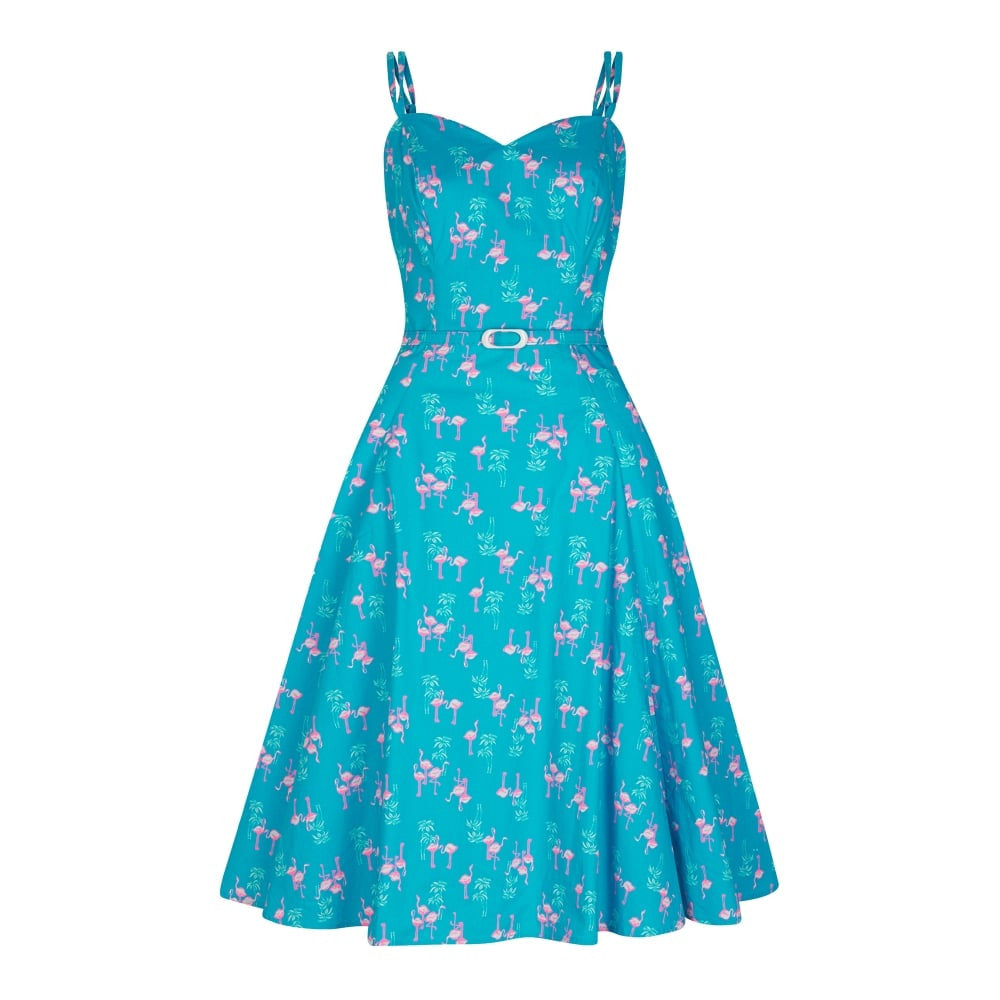 """Final Sale"" Simona Flamingo Swing Dress"