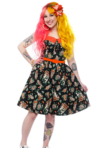 Noa Noa Tropical Tiki Floral Print Gathered Skirt