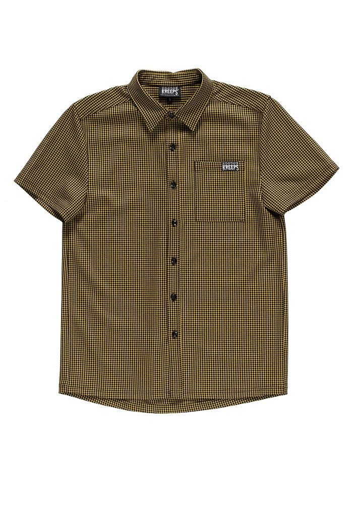 """Final Sale"" Mustard Check Button Down Shirt"