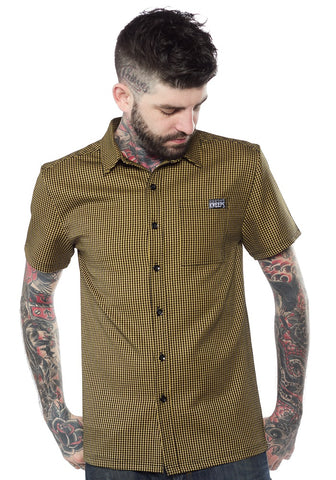 Desert Gecko Paradise Button-Up Shirt