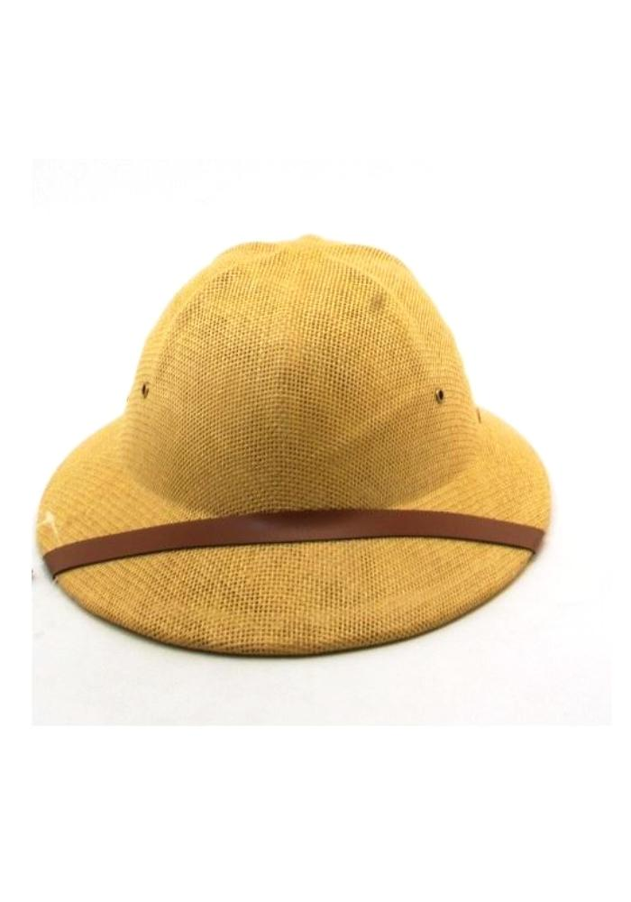 Safari Pith Helmet Jungle Hat in Beige