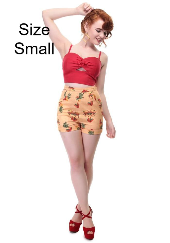 """Final Sale"" Ayana Pineapple & Palm Shorts"