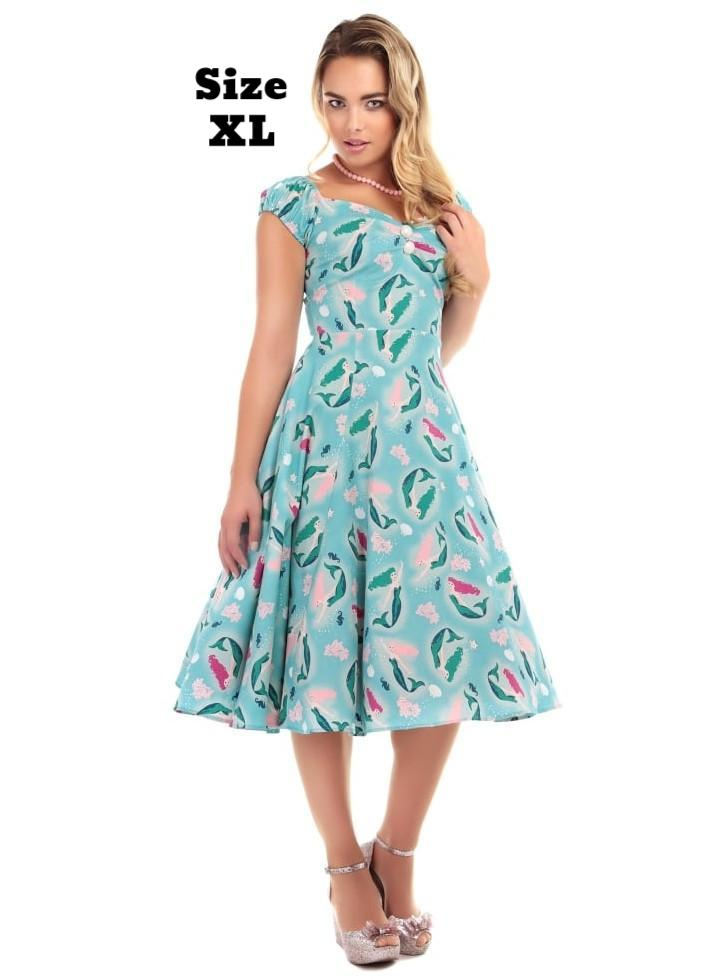 Dolores Mermaid Print Doll Dress