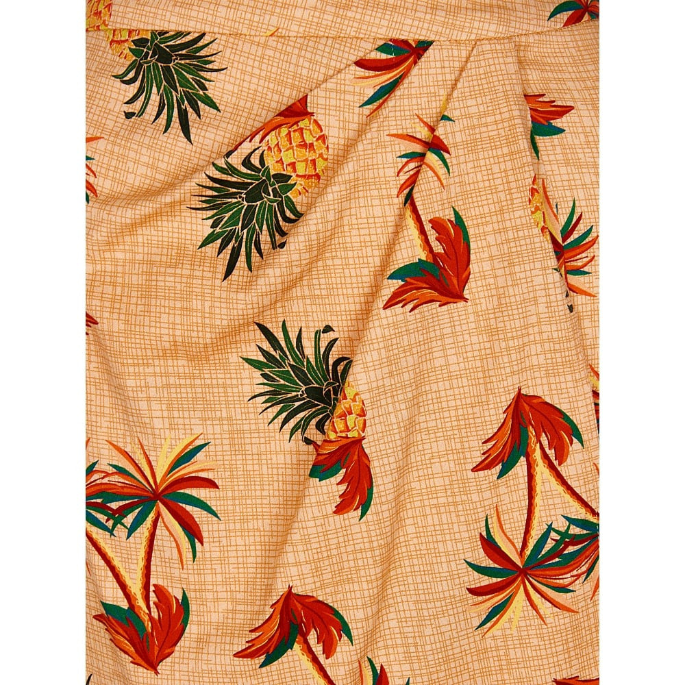 Kala Pineapple & Palm Tiki Sarong Skirt