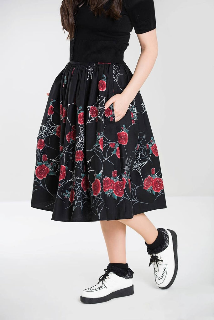 Sabrina Spider Web Rose Skirt