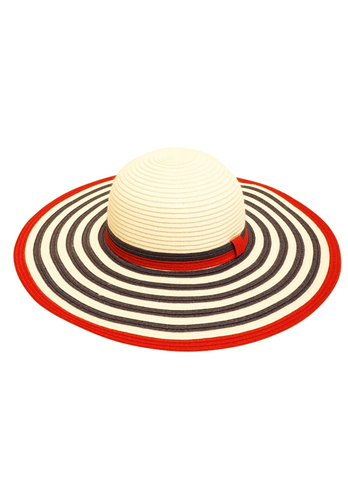 Americana Striped Floppy Sun Hat