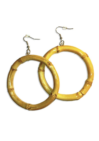 Large Round Evil Eye Earrings