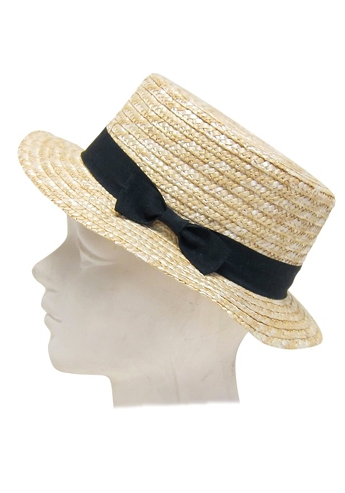Dapper Straw Boater Hat