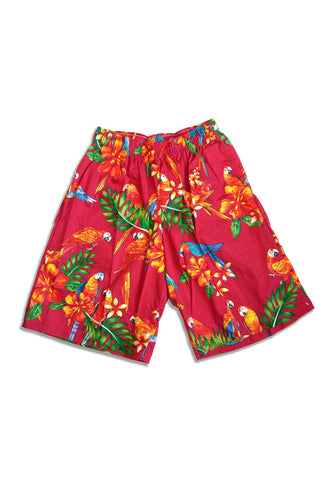"""Final Sale"" Flamingo Palms Cabana Shorts, Pink"
