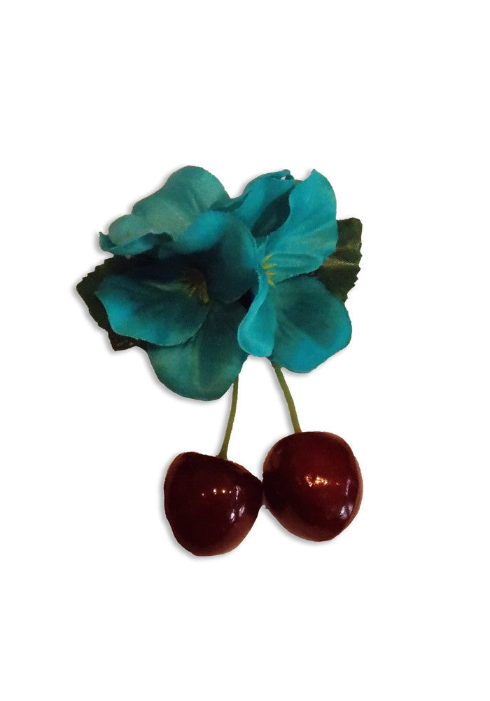Pinup Cherries - Turquoise