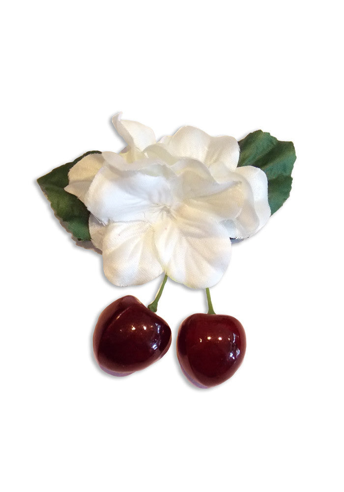 Tiki PinUp Cherries - White