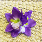 Purple Hawaiian Double Orchid Flower