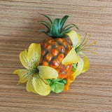Tiger Lily Tiki Pineapple Carmen Miranda Fruit Hair Clip, Yellow