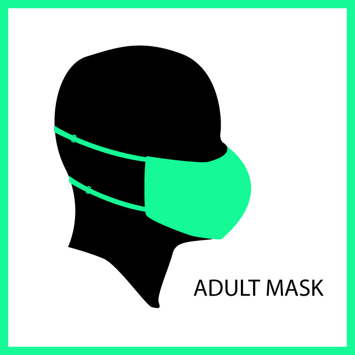 Adult Face Mask Covering, 90's Gecko