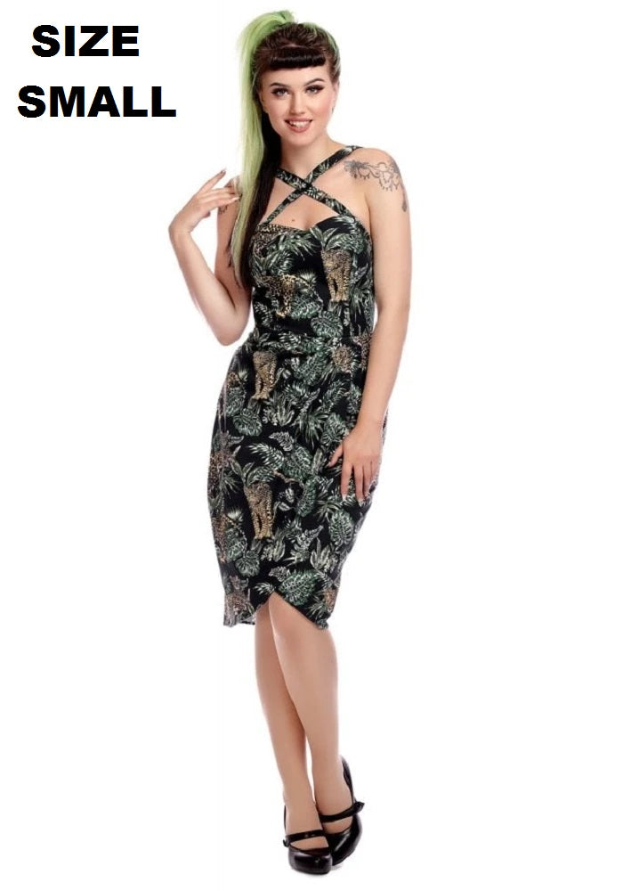 """Final Sale"" Mahina Tropical Jungle Sarong Dress"