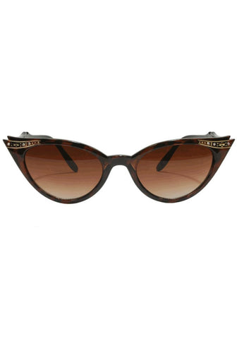 Vamp Cateye Sunglasses - Black