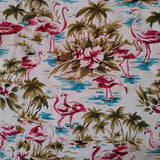 Adult Face Mask Covering, Flamingo Palms