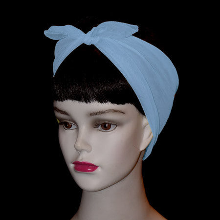 50's Style Retro Neck & Hair Scarf - Baby Blue