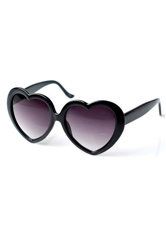 Retro White Heart Shaped Sunglasses