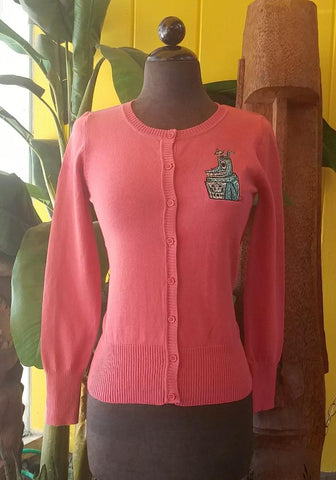 """Final Sale"" 2X Plumeria Passion Bungalow Top in Red (Broken Zipper)"