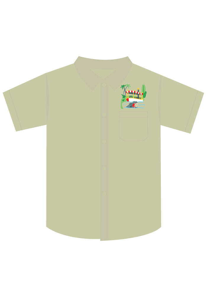 Adventure Cruise Button-Up Safari Shirt in Tan