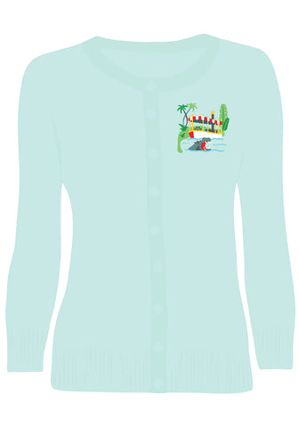 """Final Sale"" Tropical Fish Bungalow Top"