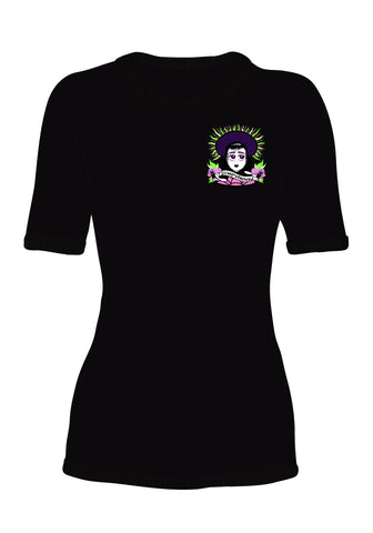 (Pre-Order) Ladies Fitted Slithering Sandworm Graphic T-Shirt designed by Tony Ray Holiday