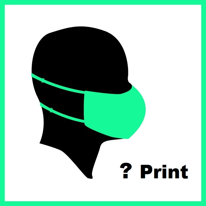 Mystery Print Adult Face Mask Covering