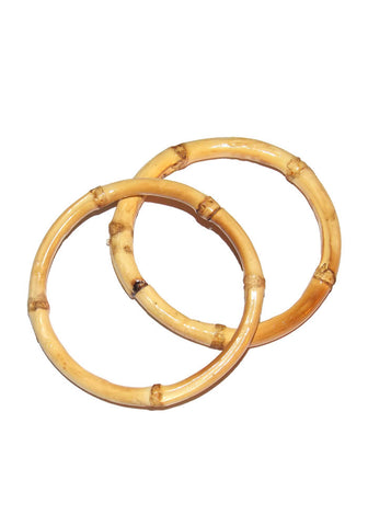 Bamboo Bracelets - Red (Pair of 2)