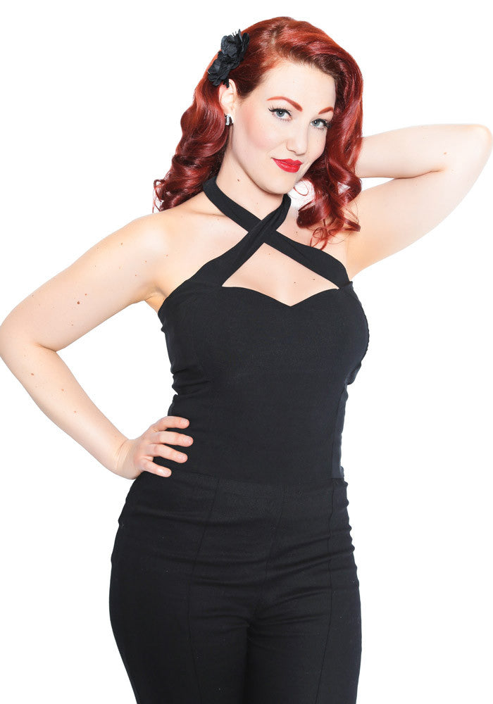 Penny Criss Cross Pin Up Top