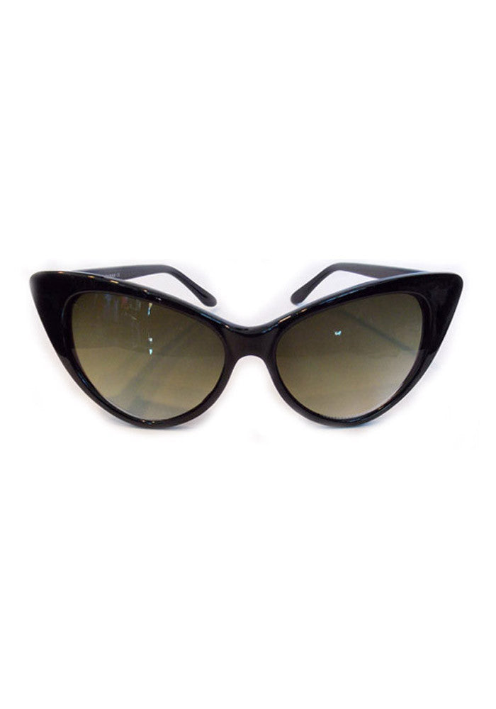 Perfect PinUp Cateye Sunglasses - Black